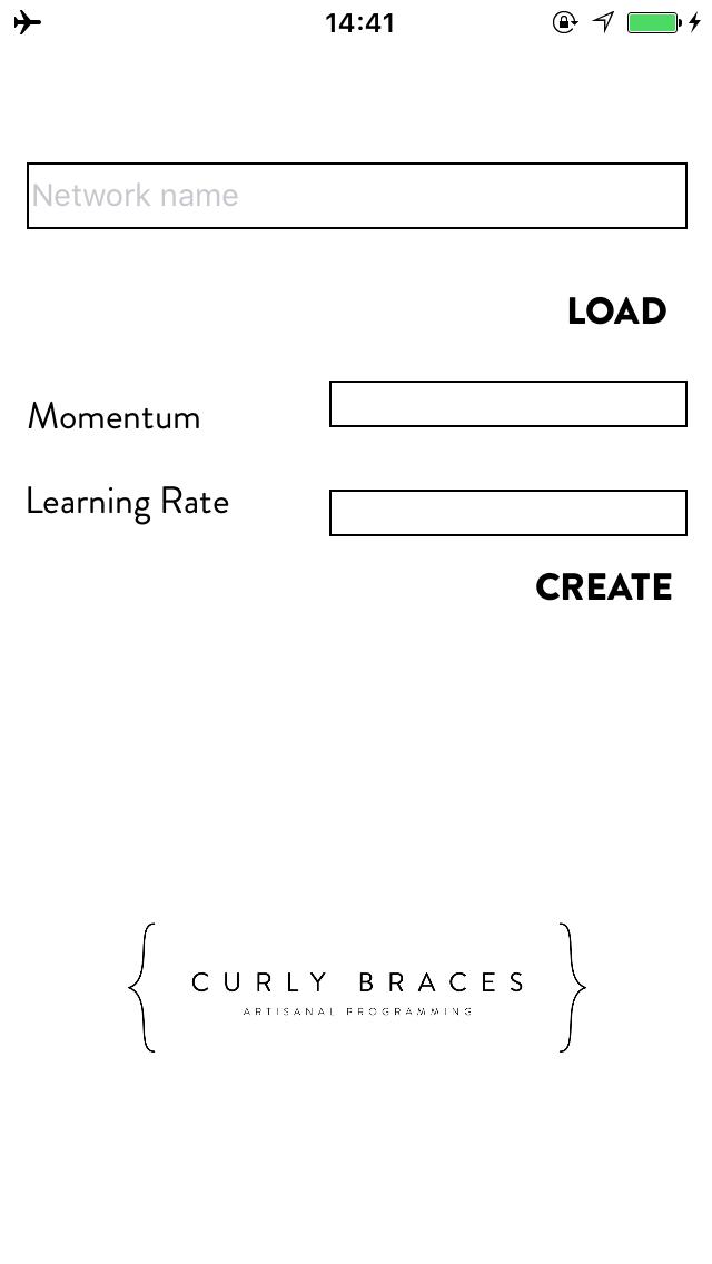 HandWriting recognition screenshot