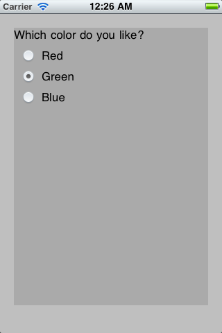 RadioButton screenshot