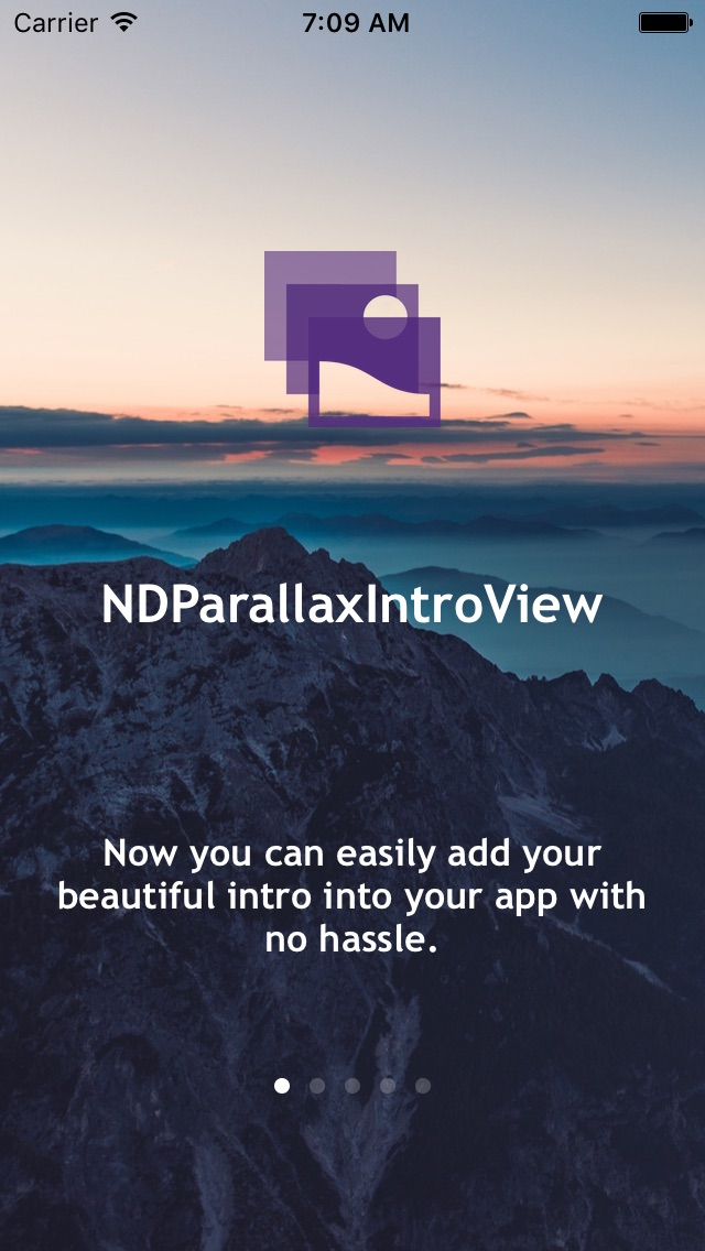 NDParallaxIntroView screenshot