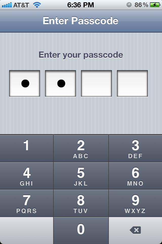 KKPasscodeLock screenshot
