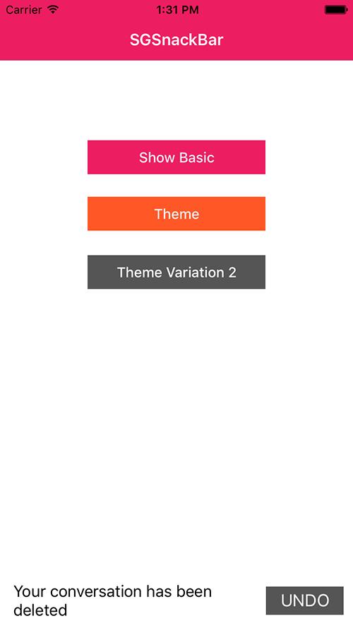 SGSnackBar screenshot