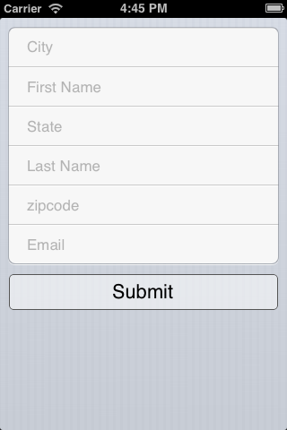 Survey 0.2 : Simple iOS Form Creation and Management screenshot