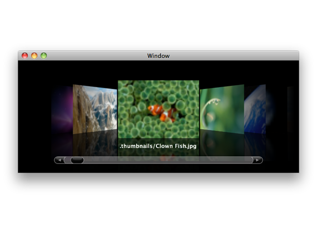 MBCoverFlowView screenshot