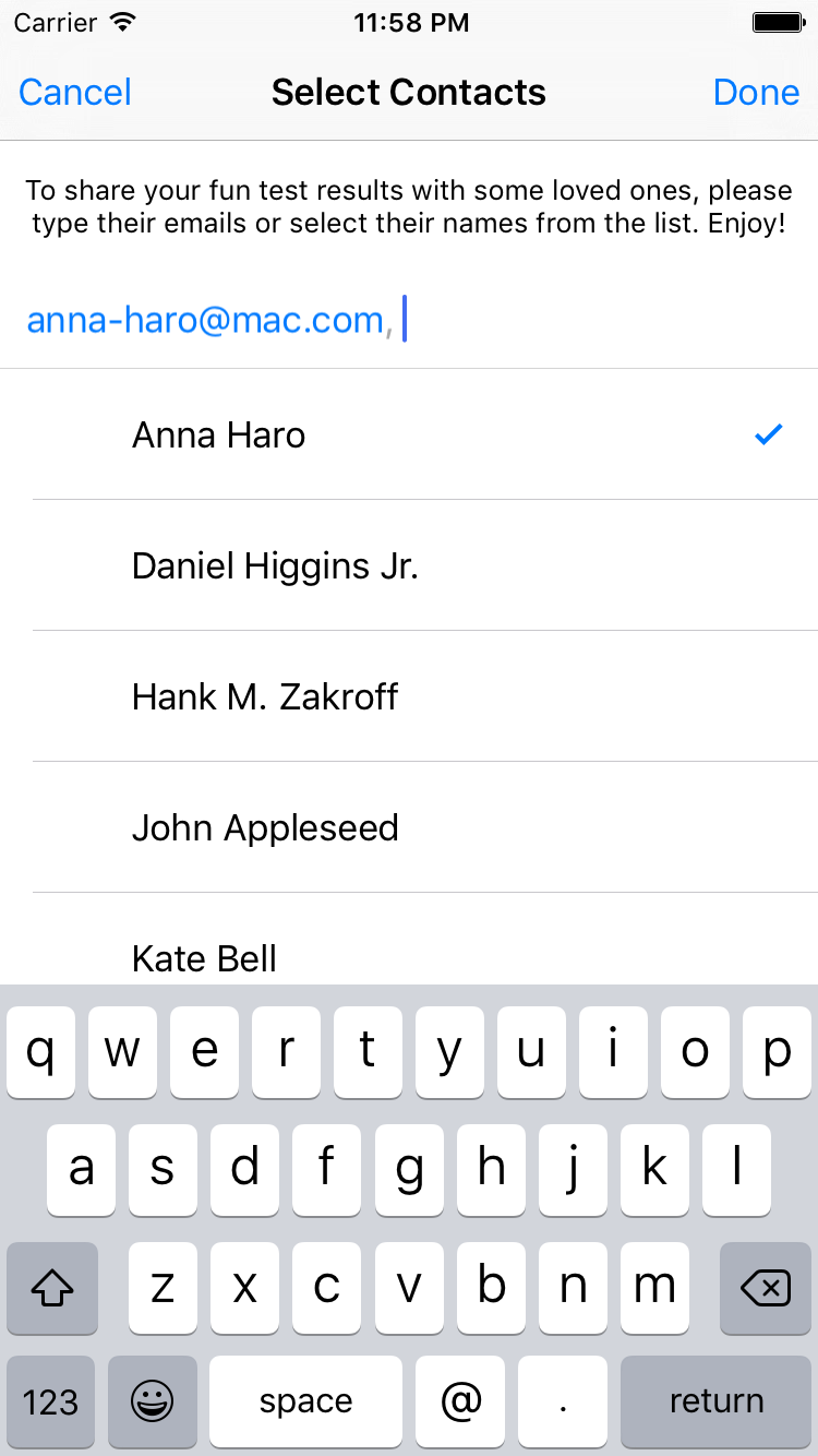 EmailPicker screenshot