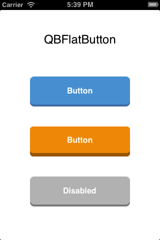 QBFlatButton screenshot