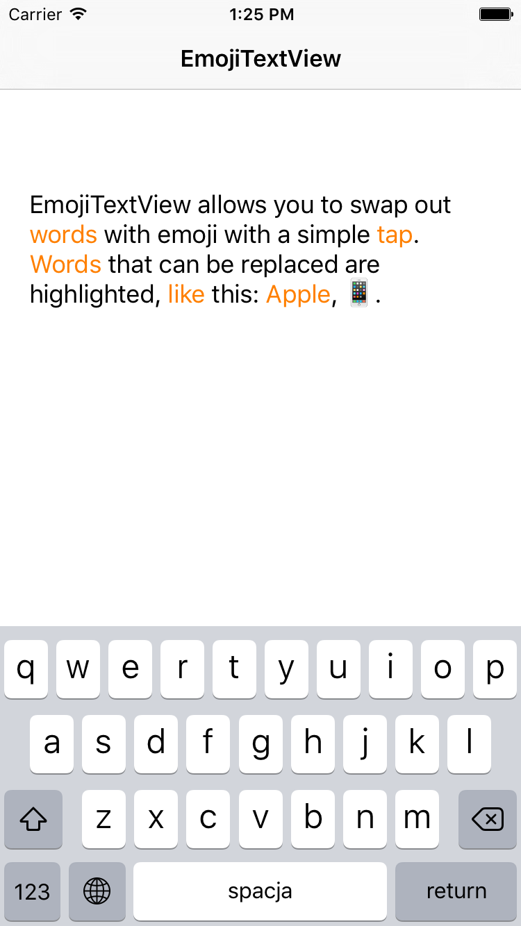 EmojiTextView screenshot