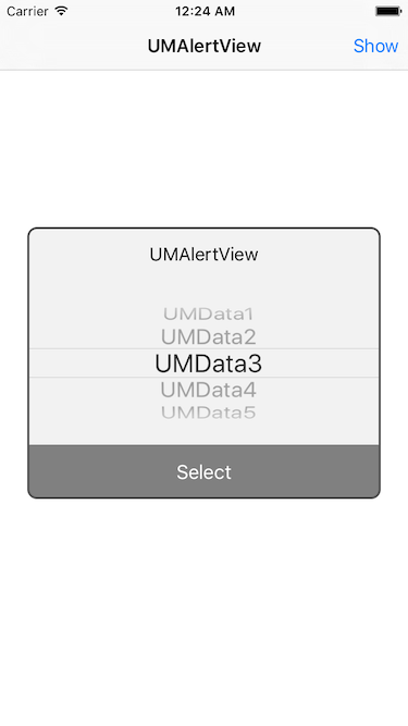 UMAlertView screenshot