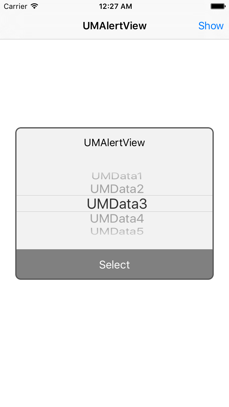 UMAlertView screenshot