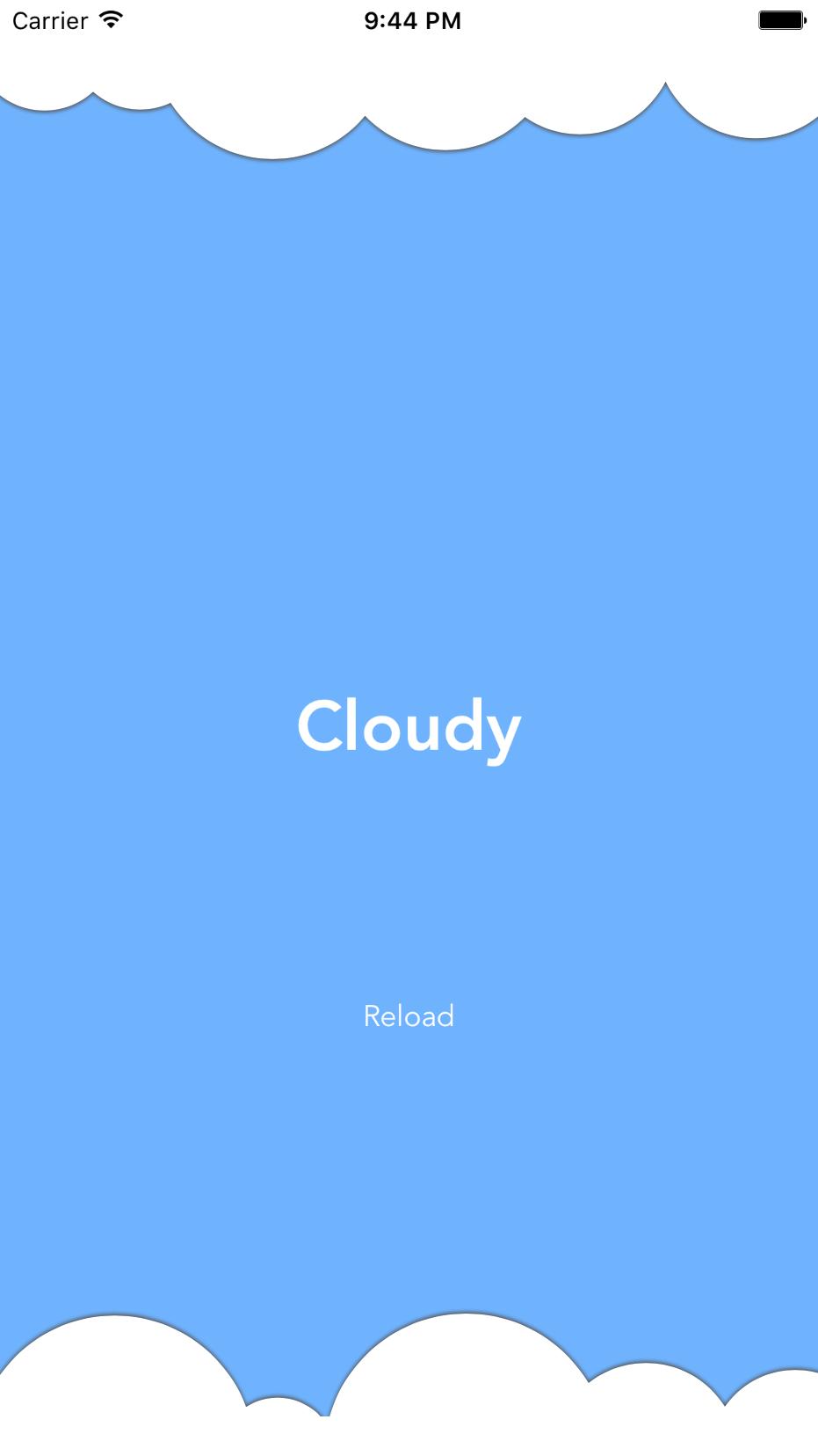 Cloudy screenshot