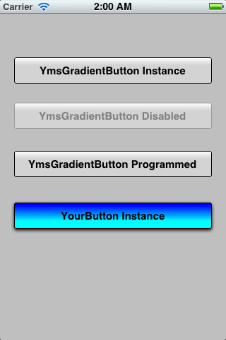 YmsGradientButton screenshot