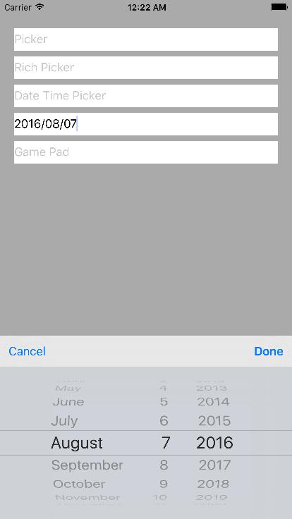 CustomKeyboardTextField screenshot