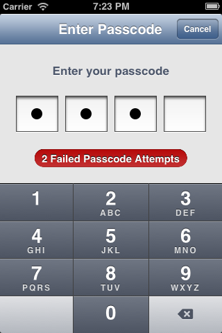 PAPasscode screenshot