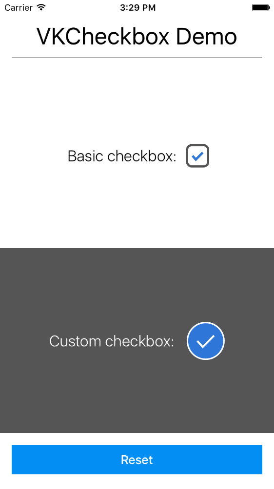 VKCheckbox screenshot